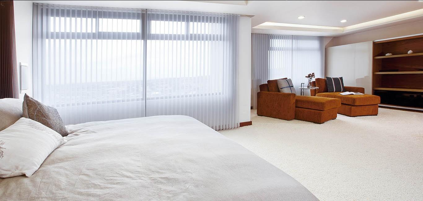 Cortinas Luminette - Dormitorio